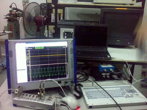 Dewetron System displaying data